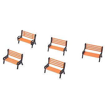 Model Train Platform Park Street Seats/bench Chair Settee Courtyard Chairs