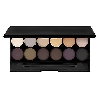 12 цветов палитры теней для век с зеркалом   Естественные тона