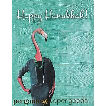 Flamingo Hanukkah Card Or Card Set