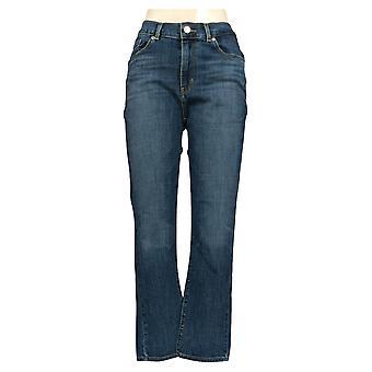 ليفي & apos;ق المرأة & apos;ق الجينز جيبه الساق مستقيم الأزرق الأساسية