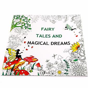 Fairy Tales And Magical Dreams Adult Graffiti Coloring Book