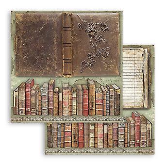 Stamperia سيدة Vagabond خمر الكتب 12x12 بوصة ورقة ورقة
