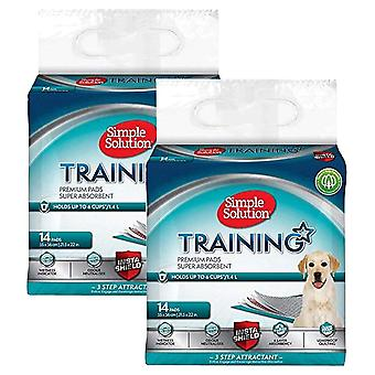 2 x 14 pads Simple Solution Premium Puppy Training Adult Dog Pet Indoor Outdoor