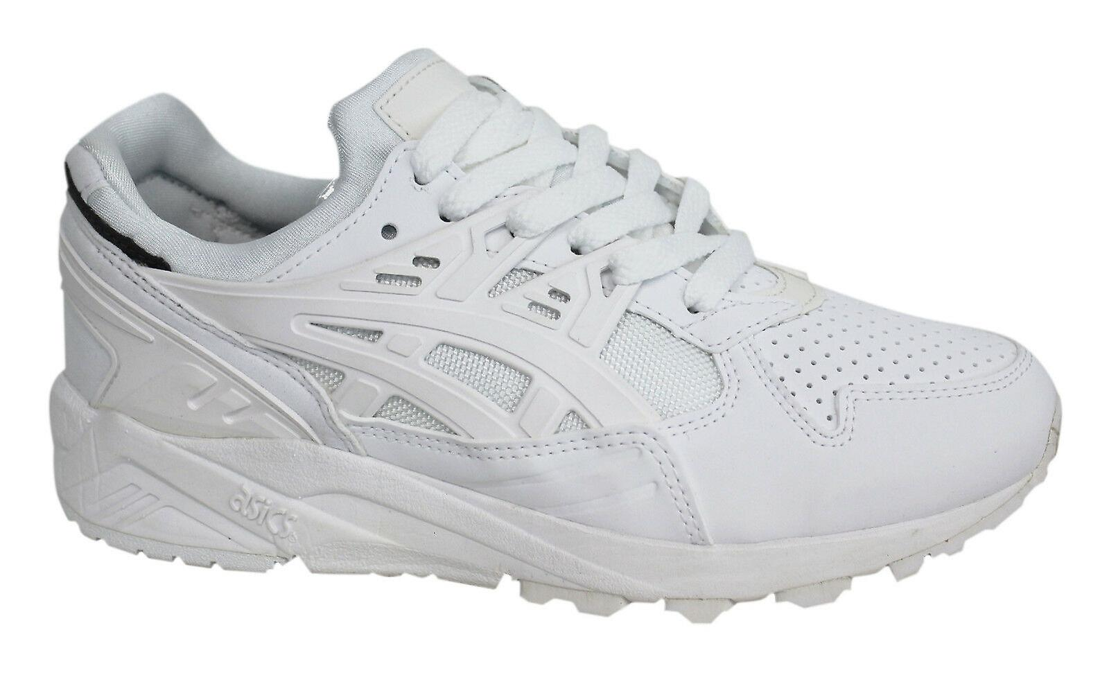 Asics Gel-Kayano Evo White Lace Up Men Synthetic Leather Trainers ...