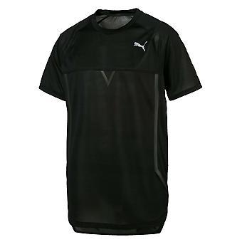 Puma NeverRunBack VIZ الرجال تي شيرت تدريب اللياقة البدنية الأعلى الأسود 516873 01 A11B