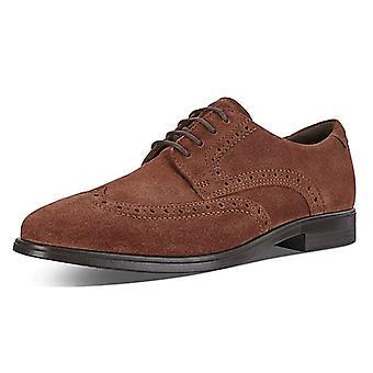 ECCO 621664 ملبورن براندي - Men & apos;s Lace-up Brogue Shoes in براندي سويد