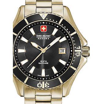 Reloj masculino militar suizo Hanowa 06-5296.02.007, cuarzo, 46 mm, 10ATM