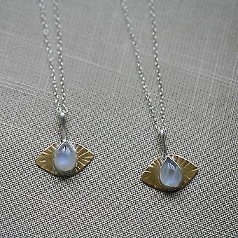 Handmade Rainbow Moonstone Third Eye Necklace