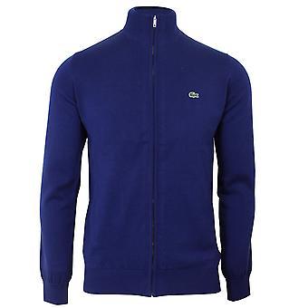 Lacoste men's blue zip sweatshirt