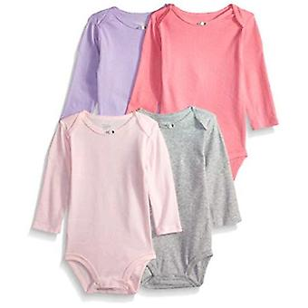 Simple Joys by Carter's Baby Girls' 4-pack Long Sleeve Bodysuits