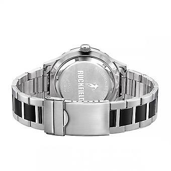 Watch Ruckfield 685022 - Dateur Bo tier Steel Silver Bracelet M tal Chrom and Black Men