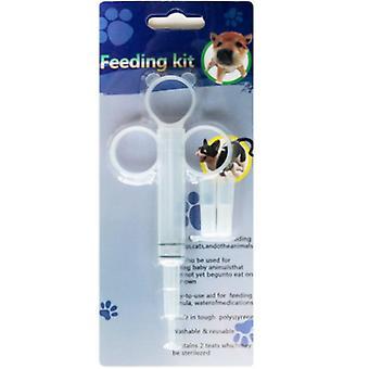 Hund katt valp piller dispenser utfodring kit