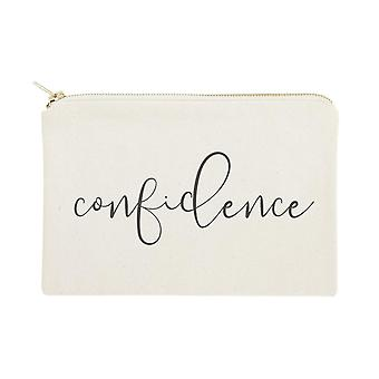 Confidence-cotton Canvas Cosmetic Bag