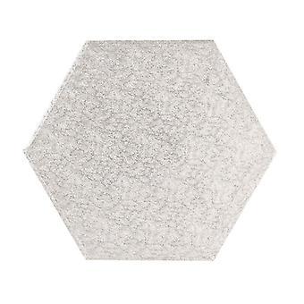 """15"""" (381mm) Tablero de Pastel Helecho de Plata Hexagonal - sencillo"""