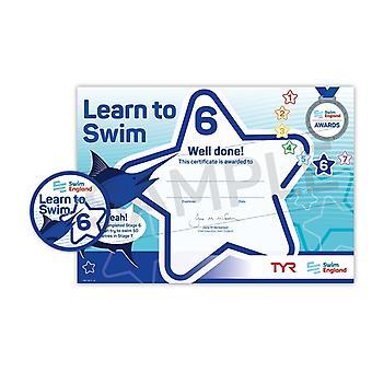 ASA zwemmen Engeland leren zwemmen Award fase 6