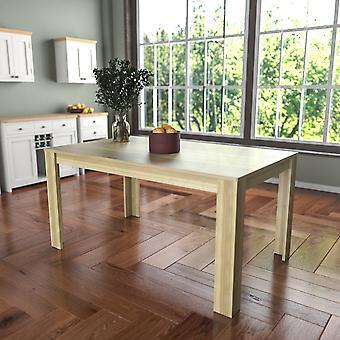 Medine 6 Seater Dining Table, Oak