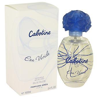 CABOTINE Eau Vivide Eau De Toilette Spray por Parfums Gres 3.4 oz Eau De Toilette vaporizador