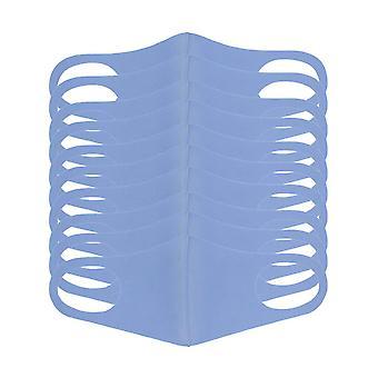 10 kpl pölynaamari, uudelleenkäytettävä unisex-naamio, puhdasta puuvillaa pestävää ulkohenkäyssuojausta