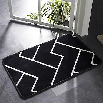 Classic Geometric Pattern Super Soft Absorbent Bathroom Door Mat