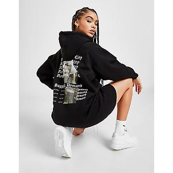 New Supply & Demand Women's Gothic Hoodie Dress from JD Outlet Black