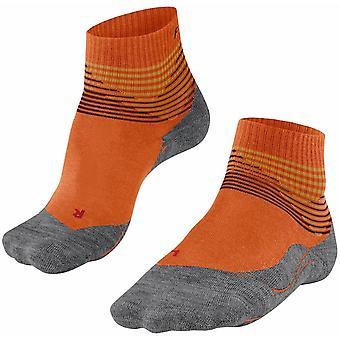 Falke Trekking 5 Offset Sneaker Socks - Pumpkin Orange