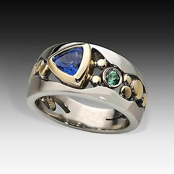 Huitan Vintage Hollow-out Band Ring Evening Dance Party Accessories