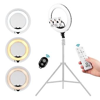 18inch Video LED Ring Light Dimmable 3000-7000K Remote Control