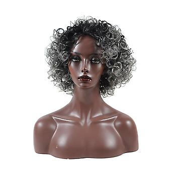 Human Hair Wig Short Curly For Old