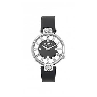 Versus Watches Ladies Stainless Steel Dressy 2 Hands Quartz Black Watch VSP490118