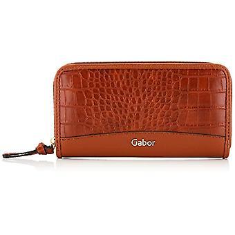 Gabor Janne, Damen lange Reißverschluss Brieftasche, Croco Cognac, Klein