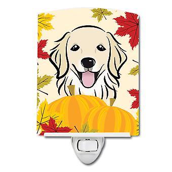 Caroline Schätze Golden Retriever Thanksgiving Keramik Nachtlicht, 6 X 4, Multicolor
