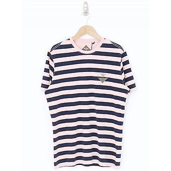 Barbour Coast Stripe T-shirt - Navy/Pink