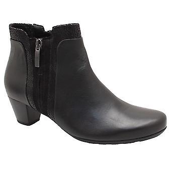 Gabor Keepsake Black Block Heel Ankle Boot