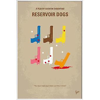 JUNIQE Print -  Reservoir Dogs - Filme Poster in Bunt & Cremeweiß