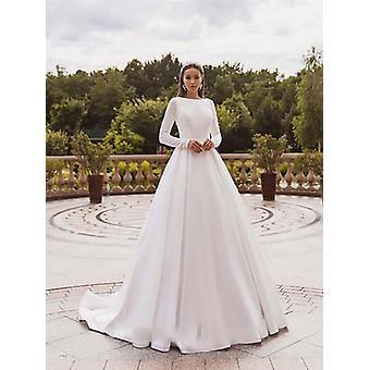Elegant Satin Wedding Dresses