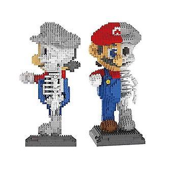 For D.I.Y Mario Building Blocks Half Orcish Toy Bricks 1686pcs Model Puzzles Anime Game|Stacking Blocks WS15178