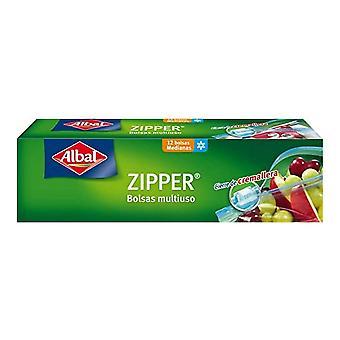 Multi-use Bag Albal Zipper (12 uds) (1 l)
