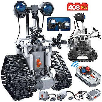 408Pcs city creative high-tech rc robot electric building blocks  remote control intelligent  bricks toys for children