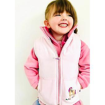 Babys Licht rosa Pony bestickt Gilet