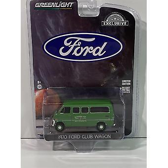 1970 Ford Club Wagon Board of Education 1:64 Skala Greenlight 30170