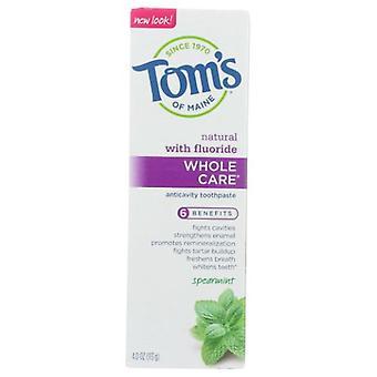 Dentifricio Tom's Of Maine Wholecare, Spearmint 4 Oz