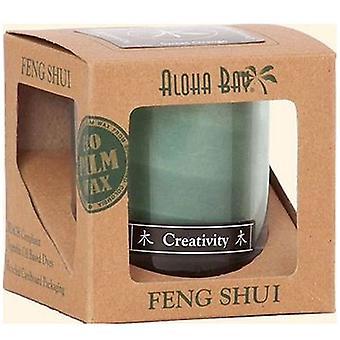 Aloha Bay Feng Shui Candle Jar, Wood Creativity 2.5 oz