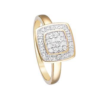Anillo 'Lima' Oro Amarillo y Diamantes