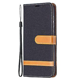 Folio Flip Cover Leather Case For Samsung Galaxy S21 Fe Black Jeans