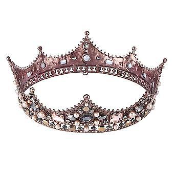 Diadème de mariée en cristal pour l'enseage des bijoux de tête nuptiale de couronne de strass