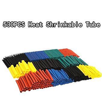 530 ks set polyolefín zmršťovanie rôzne teplom zmršťovacie rúrky kábel izolovaný sleeving hadice set
