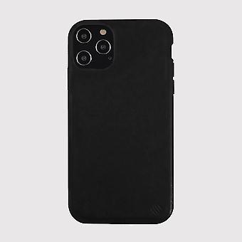 Custodia ecologica in pelle nera per iphone 12 pro max