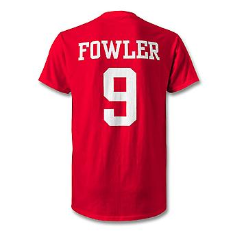 Robbie Fowler Liverpool legende held T-Shirt