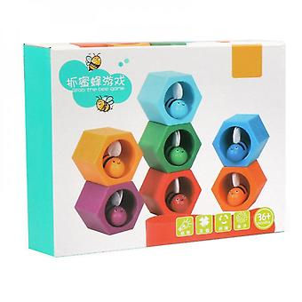 Wooden Catching Game Toy Baby Busy Board Education Color Sorting Toy Stimulation Toy For Kids Toddler Age 3 Years Old +