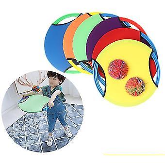 Plážová záhrada loptová hra Deti Elastické loptu skákacie krúžok Vonkajšie zábavné športové toy hádzať chytiť loptu
